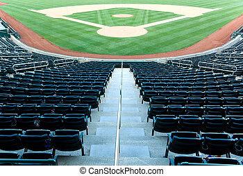 Baseball stadium - Empty seats at a baseball stadium