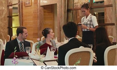 People, woman, waitress, restaurant - People eating, dining...