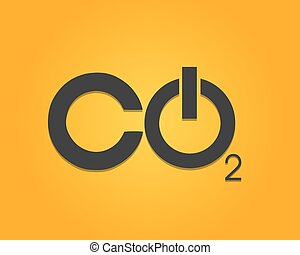 CO2 Power Button Vector