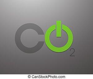 Co2 Power Concept Vector