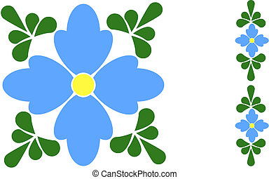 Forget-me-not flower tile - This abstract forget me not...