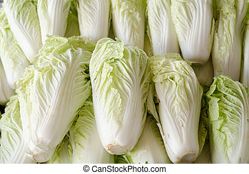 Chinese cabbage are sold in fresh markets