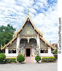 Wat Sri khun Muang  in Chiang Khan ,Loei, Thailand