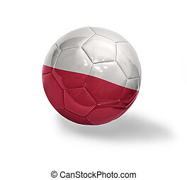 Polish Football - Football ball with the national flag of...