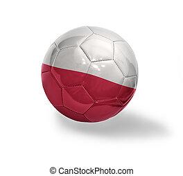 Polish Football - Football ball with the national flag of...