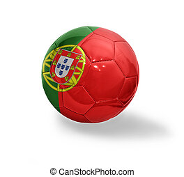 Portuguese Football - Football ball with the national flag...