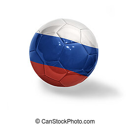 Russian Football - Football ball with the national flag of...