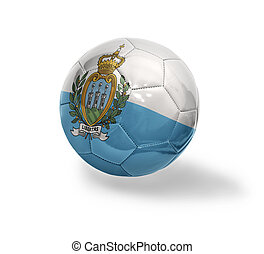 San Marino Football - Football ball with the national flag...