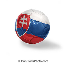 Slovak Football - Football ball with the national flag of...