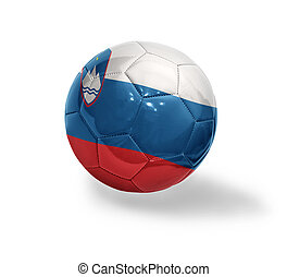 Slovenian Football - Football ball with the national flag of...