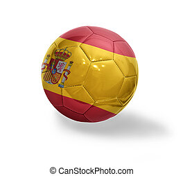 Spanish Football - Football ball with the national flag of...