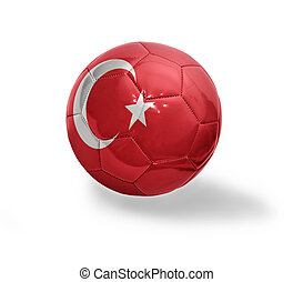 Turkish Football - Football ball with the national flag of...