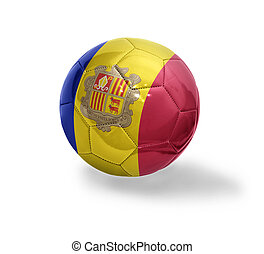 Andorran Football - Football ball with the national flag of...