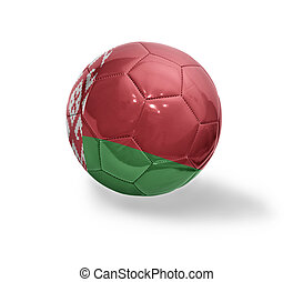 Belorussian Football - Football ball with the national flag...