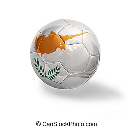Cypriot Football - Football ball with the national flag of...