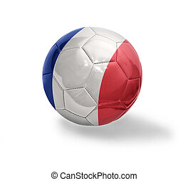 French Football - Football ball with the national flag of...