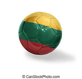 Lithuanian Football - Football ball with the national flag...