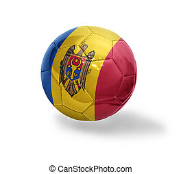Moldavian Football - Football ball with the national flag of...