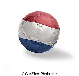 Dutch Football - Football ball with the national flag of...
