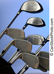 Golf clubs - Golf club on blue background - great for...