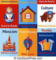 Russia travel retro poster - Welcome to Russia travel retro...