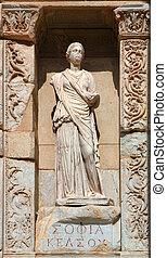 Ephesus - Ancient staue, Celsus Library Ephesus
