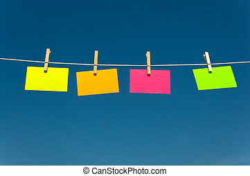 Four notes on a clothesline