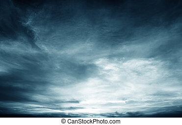 Dark clouds - Background of dark clouds before a...