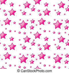 Seamless design with pink stars - Illustration of the...