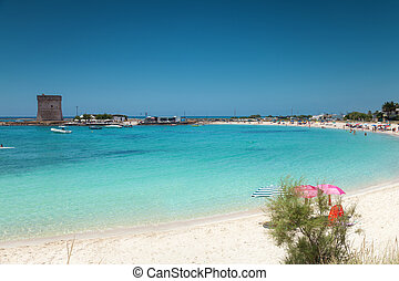 Beautiful beach on the southern coast of Italy