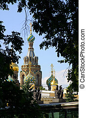 Cathedral from St.Petersburg - Spas-na-krovi cathedral from...