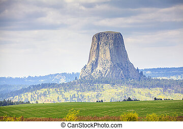 The Devils Tower National Monument, Wyoming, USA