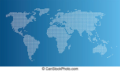 Abstract computer graphic World map