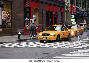 Manhattan - New York, United States - May 19, 2013: Yellow...