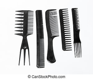 Comb Black set isolated on a white background