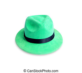 Green Hat isolated on the white background.