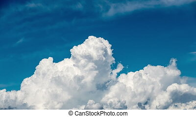 Beautiful Cumulus Clouds on Blue