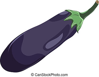Vector illustration of an eggplant. EPS 8