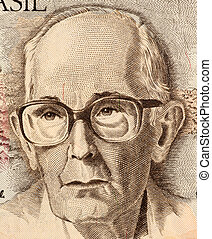 Drummond de Andrade on 50 Cruzados Novos 1989 Banknote from...