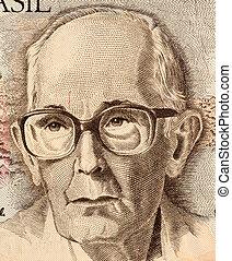 Drummond de Andrade on 50 Cruzados Novos 1989 Banknote from...