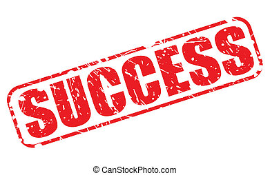 Success red stamp text on white
