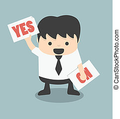 yes or no - Cartoons concepts yes or no Illustration