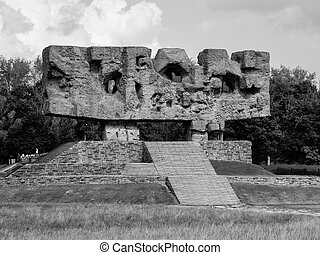 Monument of Struggle and Martyrdom in Majdanek - Monument of...