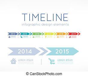 Timeline infographic - Timeline element vector infographic...