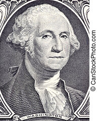 George Washington on 1 Dollar 2006 Banknote from USA...
