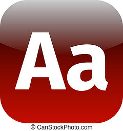 Enlarge font Internet button Icon App Apps AA - for phone or...