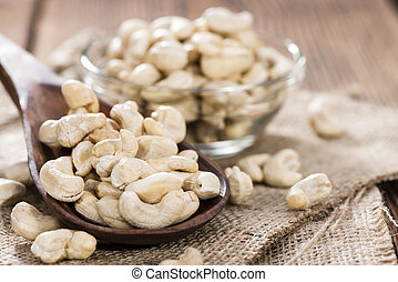 Cashew Nuts - Portion of dried Cashew Nuts detailed close-up...