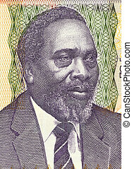 Jomo Kenyatta on 100 Shilingi 2006 Banknote from Kenya....