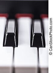 Piano detail - Detail of piano musical instrument keyboard