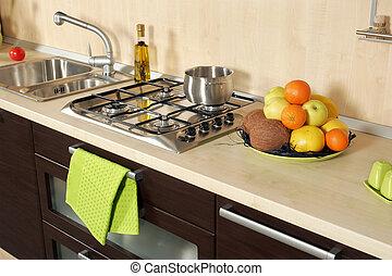 Detail of an modern kitchen
